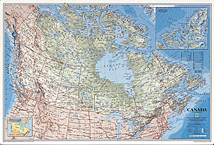 America south large wall map laminated by national geographic l canada wall map sciox Images