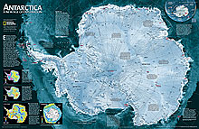 Antarctica Satellite Map