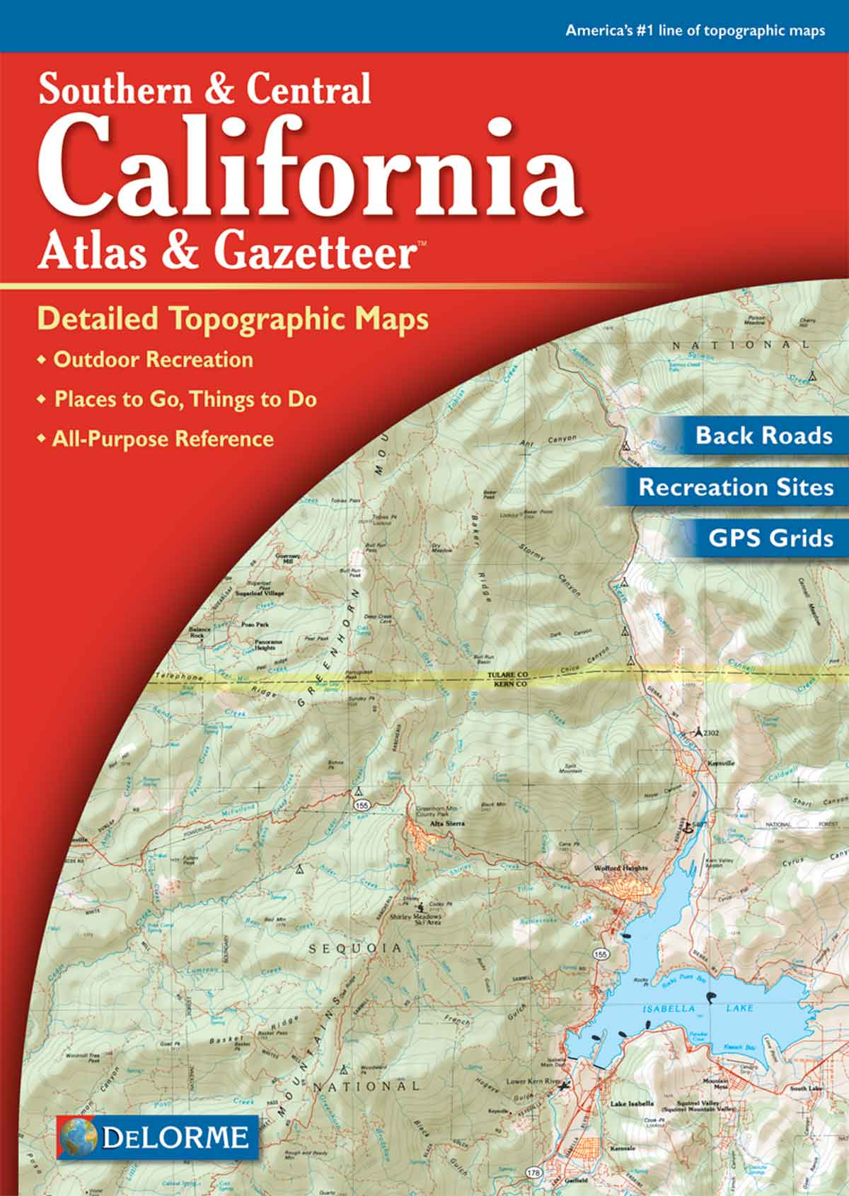 Southern California DeLorme Atlas  Gazetteer W  Maps Free Maps - Us topographic road map