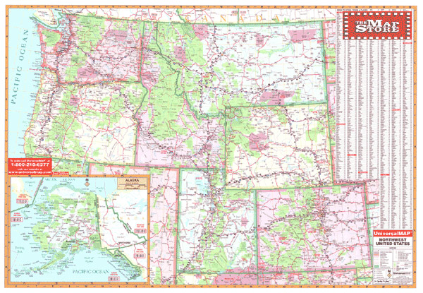 NorthWest United States Wall Map page free maps globes geo