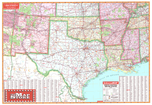 south central united states wall map page free maps globes geo atlases world world usa united states us mercator usgs u s g s topo
